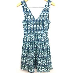 Anthropologie Mauve Keyhole Dress